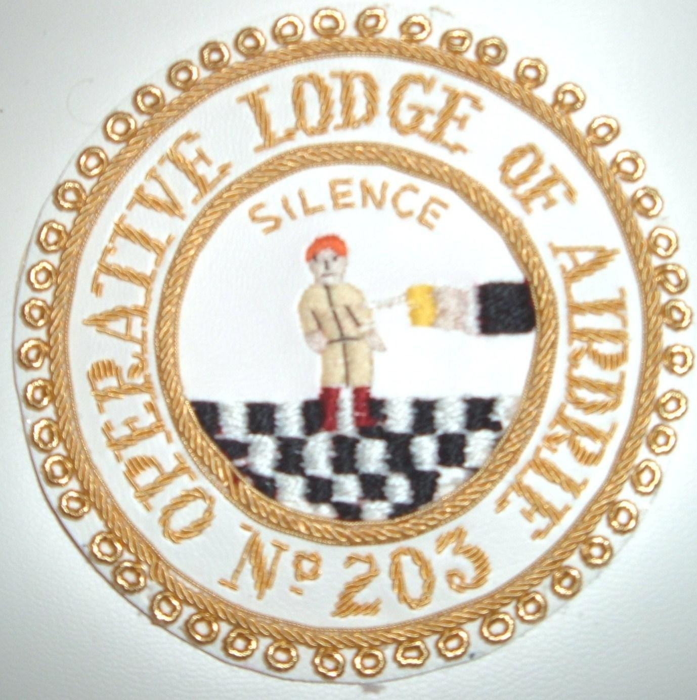 203 apron badge